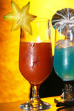 Bevanda con il carambola Fotografie Stock Libere da Diritti