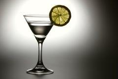 Bevanda con il limone giallo Fotografia Stock