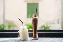 Bevanda del cacao e del latte Immagine Stock Libera da Diritti