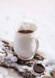 Bevanda del cioccolato caldo Fotografie Stock