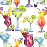 Bevanda del cocktail del partito di Antivari Modello senza cuciture del fondo Fotografie Stock Libere da Diritti