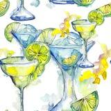 Bevanda del cocktail del partito di Antivari Modello senza cuciture del fondo Immagine Stock Libera da Diritti