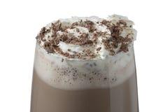 Bevanda del latte al cioccolato Fotografia Stock