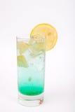 Bevanda dell'alcool del limone con ghiaccio Fotografie Stock Libere da Diritti