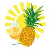 Bevanda dell'ananas Immagini Stock