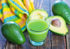 Bevanda dell'avocado Fotografie Stock
