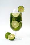 Bevanda della calce Fotografia Stock