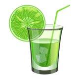 Bevanda della calce con frutta Immagini Stock