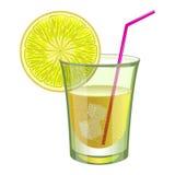 Bevanda della calce con frutta Fotografia Stock
