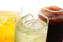 Bevanda della cola, del orane e della calce Fotografia Stock Libera da Diritti