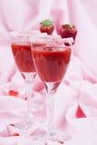 Bevanda 008 della fragola dei biglietti di S. Valentino Fotografia Stock Libera da Diritti
