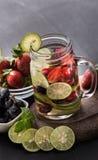 Bevanda della frutta fresca di estate E Fotografie Stock Libere da Diritti