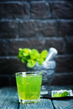 Bevanda della menta Fotografia Stock