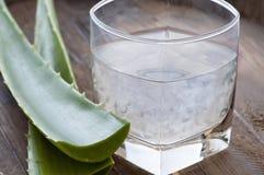 Bevanda della vera dell'aloe Immagini Stock