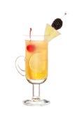 Bevanda di Friuty Mocktail con gli shnapps della pesca Fotografia Stock