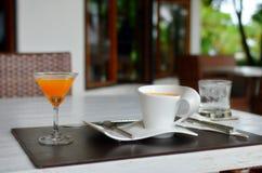 Bevanda di mattina Immagini Stock