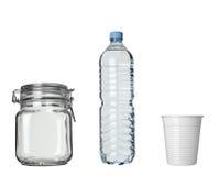 Bevanda di plastica della bottiglia del lar della bevanda della tazza di caffè Fotografia Stock Libera da Diritti