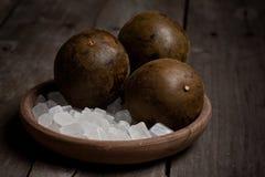 Bevanda di raffreddamento di Luo Han Guo Herbal immagine stock