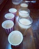 Bevanda di refrigerazione fredda di viaggio della neve di manali del freddo del tè Immagine Stock