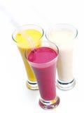 Bevanda di scossa della frutta fresca fotografie stock libere da diritti
