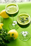 Bevanda di verdure del prezzemolo Fotografia Stock Libera da Diritti