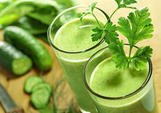 Bevanda di verdure sana Fotografia Stock