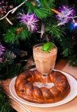 Bevanda e decorazione di Natale Immagini Stock
