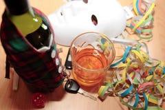 Bevanda ed azionamento del partito di ufficio Fotografia Stock