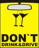 Bevanda ed azionamento del `t del Don illustrazione di stock
