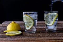 Bevanda fredda con il limone Immagine Stock Libera da Diritti