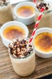 Bevanda fredda della crème-brulée del caffè Immagine Stock