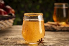 Bevanda fresca del sidro con anice e cannella immagine stock
