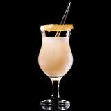 Bevanda fresca su priorità bassa nera Immagine Stock