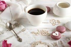 Bevanda romantica del caffè immagine stock