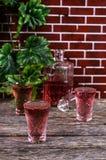 Bevanda rosa trasparente Fotografia Stock