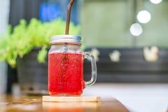 Bevanda rossa della soda Fotografia Stock Libera da Diritti