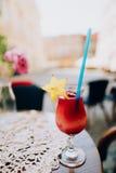 Bevanda rossa di estate immagine stock libera da diritti