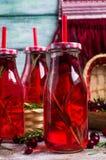 Bevanda rossa trasparente delle bacche Immagini Stock Libere da Diritti