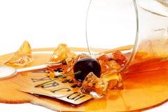 Bevanda rovesciata fotografie stock