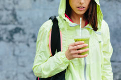 Bevanda sana di nutrizione di forma fisica e di sport Fotografia Stock Libera da Diritti