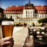 Bevanda saporita della birra Sguardo artistico nei colori vivi d'annata Immagine Stock Libera da Diritti