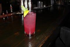 Bevanda squisita ad una barra locale di tuffo fotografia stock libera da diritti