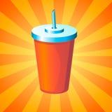 Bevanda in tazza eliminabile Fotografia Stock Libera da Diritti
