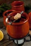 Bevanda tedesca tradizionale Feuerzangenbowle di Natale immagini stock