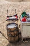 Bevanda tradizionale di Kumis- A Kirgiz Fotografia Stock