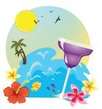Bevanda tropicale dell'isola Immagini Stock