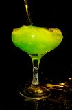 Bevanda verde fredda in vetro Immagini Stock Libere da Diritti