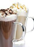 Bevande del caffè e del cioccolato caldo Fotografie Stock Libere da Diritti