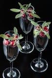 3 bevande del mirtillo rosso e prudenti Immagini Stock