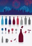 Bevande del partito impostate. illustrazione di stock